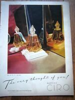 1945 CIRO PERFUME Bottle Thought of You Ad