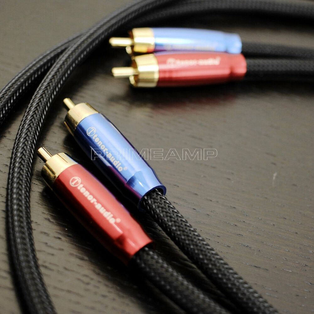 Ta 301 Snake Black Golden Plated Audiophile Rca To Rca Hi
