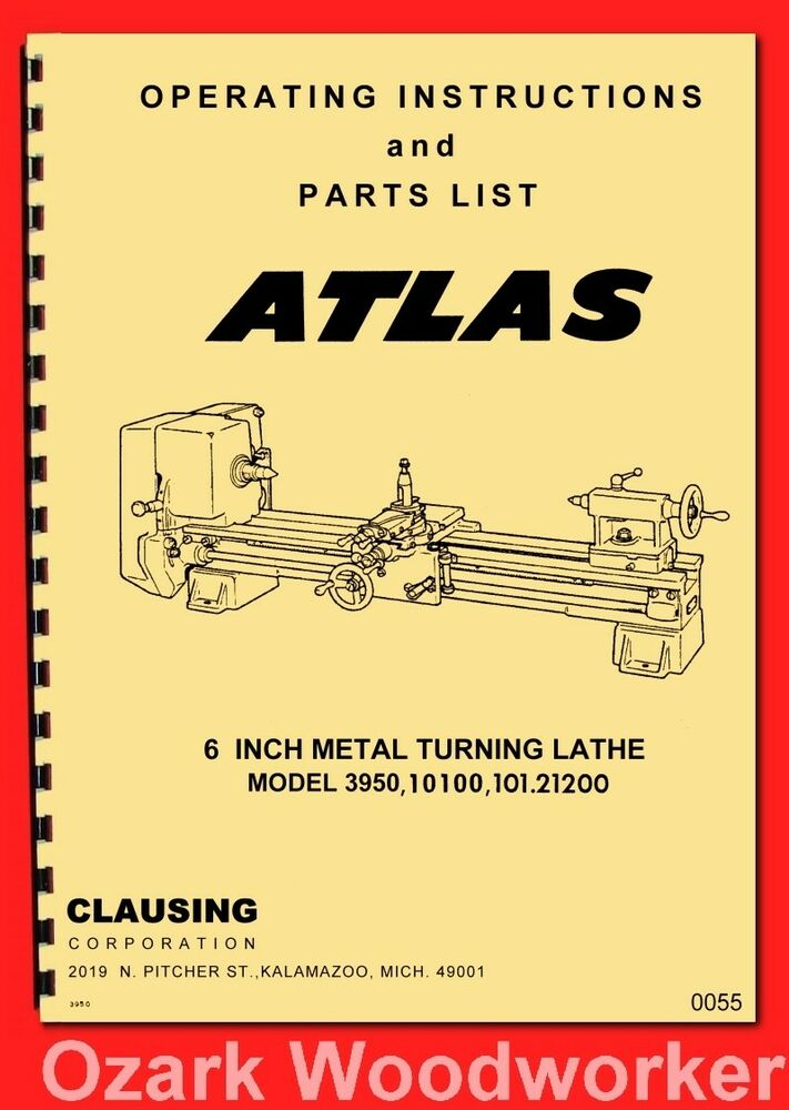 atlas craftsman 6 quot  metal lathe model 3950  10100  101 Shopsmith Lathe Parts Craftsman Metal Lathe Mod 10.1