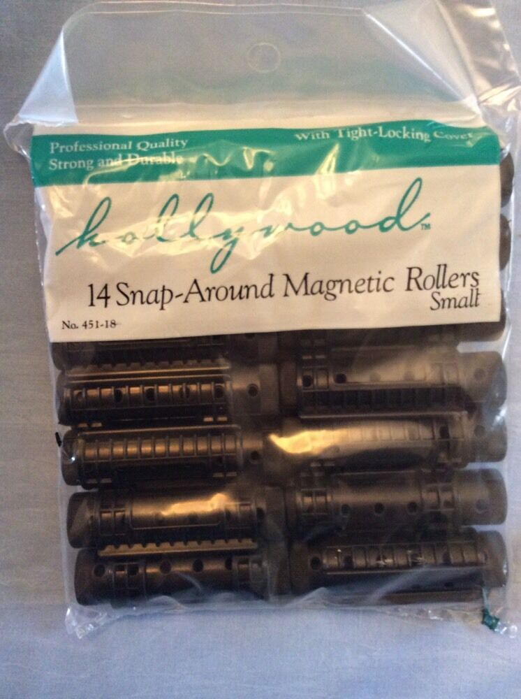 Snap Around Magnetic Rollers Small Curlers 14 Black