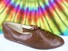 8.5-9 vintage 80's brown leather REEBOK METAPHORS lace-up oxfords shoes