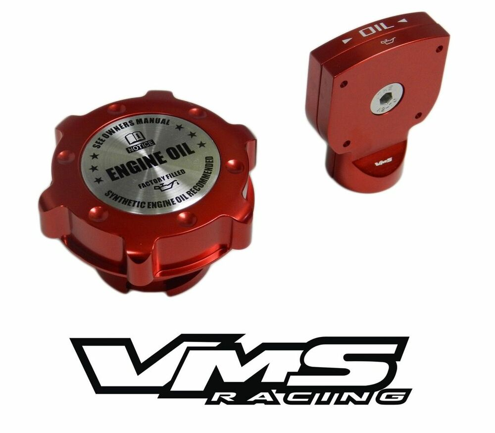 VMS BILLET ALUMINUM RED ANODIZED OIL CAP DIPSTICK LT1 LT4