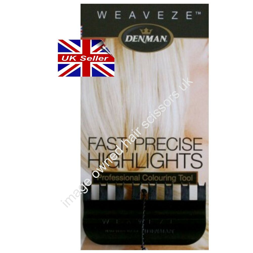Denman Weaveze Hairdressing Comb Colouring Highlighting Hair Weave