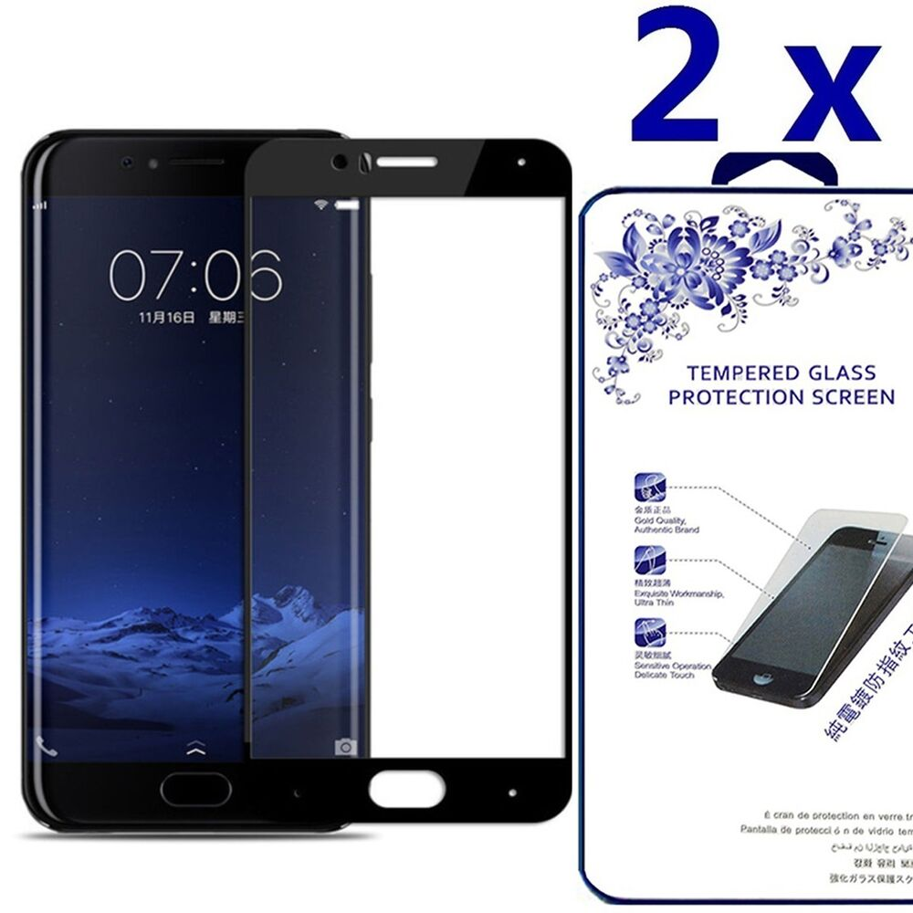 2x] Full Curved HD Tempered Glass Screen Protector For Xiaomi Mi6 M6 ...