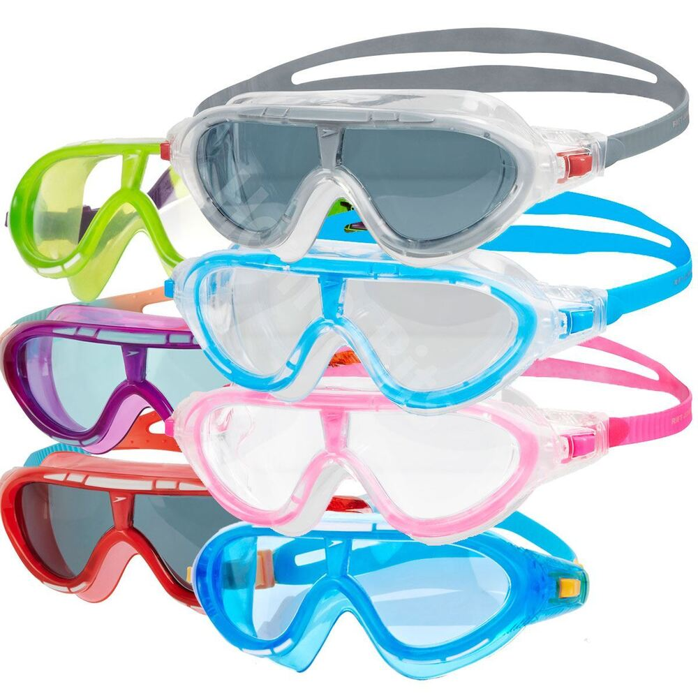 d0fb04cf1b58 Details about Speedo Rift Kids Swimming Goggles Mask Anti-fog Lens Junior  Age 6-14