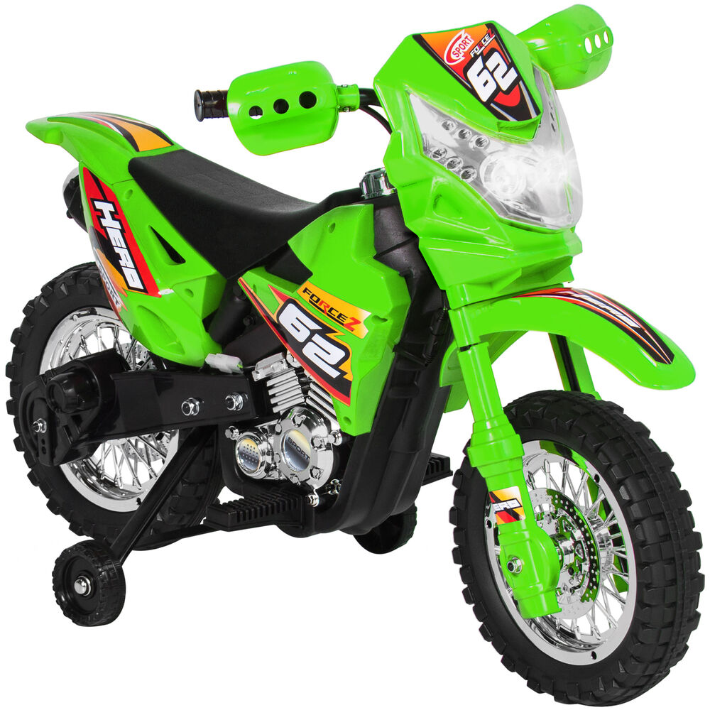 BCP 6V Kids Electric Ride-On Motorcycle W/ Training Wheels