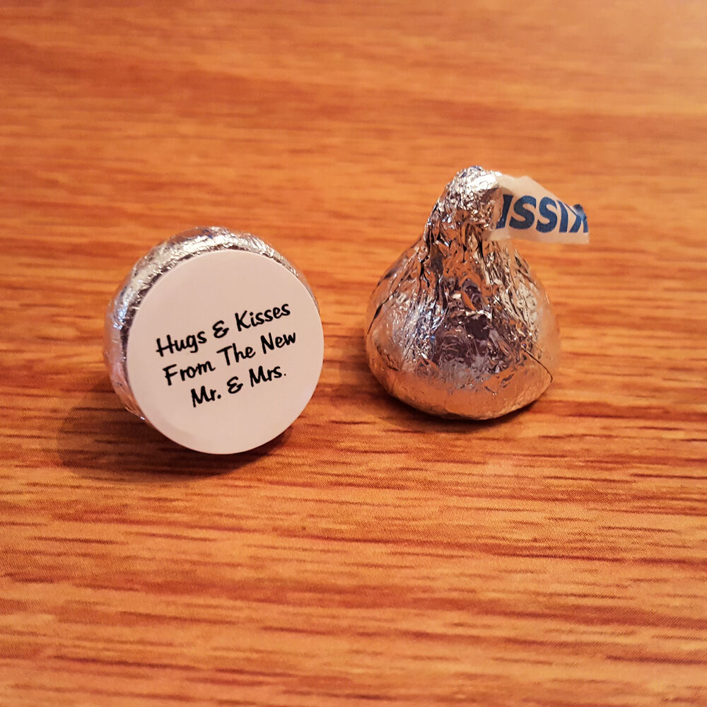 Short Sweet I Love You Quotes: 108 Wedding Hershey Kiss Sticker Labels Hugs And Kisses Mr