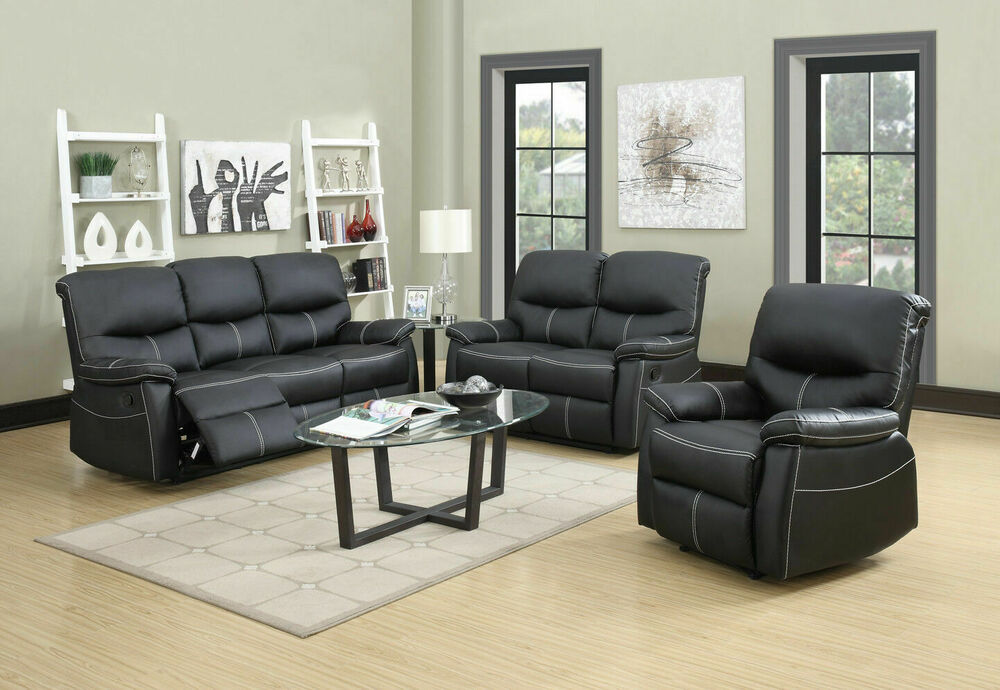 Loveseat Chaise Couch Recliner Sofa Chair Leather Accent