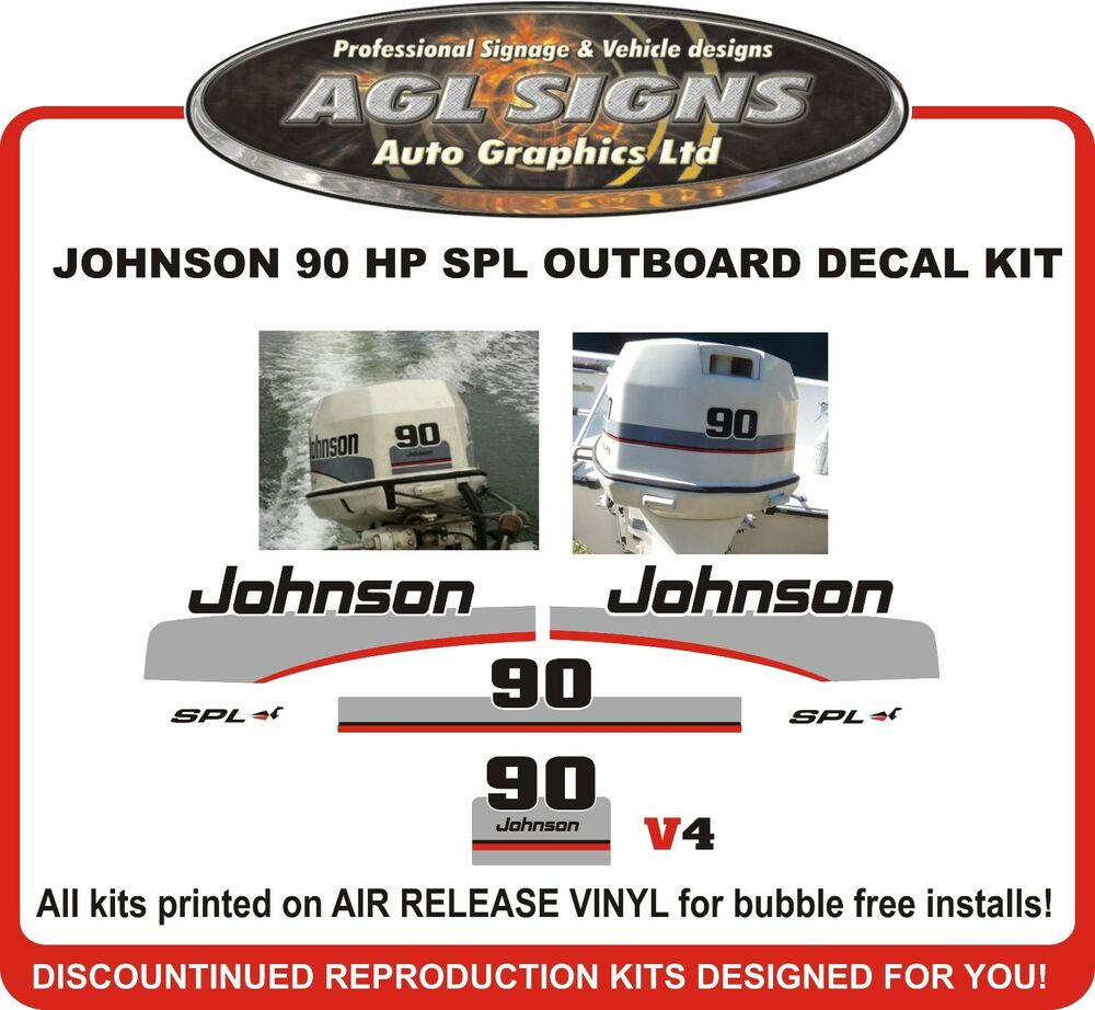 1997 1998 JOHNSON 90 HP SPL Outboard Decal kit reproductions also 115 hp |  eBay