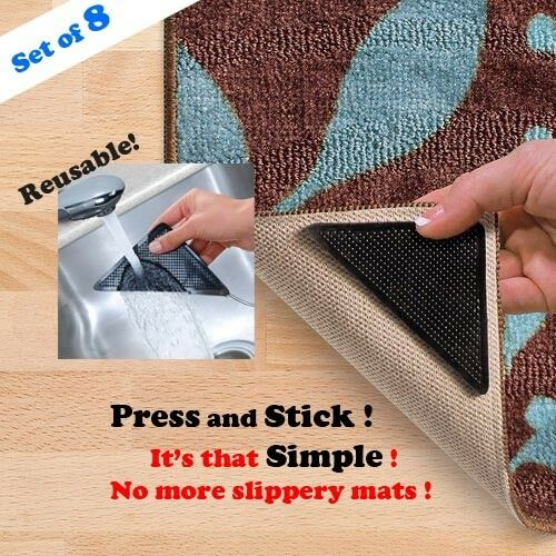 rug grip pro reusable rug gripper set of 8 ruggies. Black Bedroom Furniture Sets. Home Design Ideas