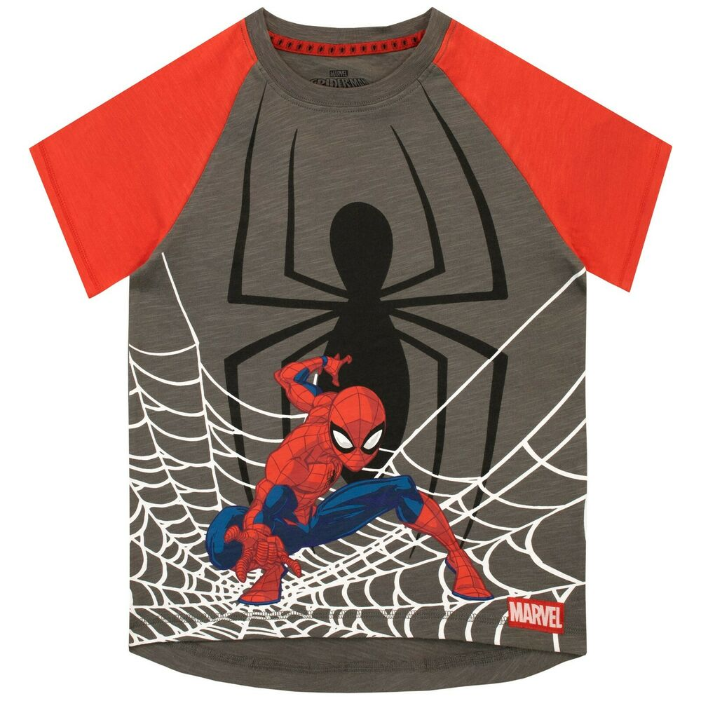 cfc5787b8 Details about Boys Spider-Man T-Shirt | Kids Spiderman Tee | Marvel Spider  Man Shirt | NEW
