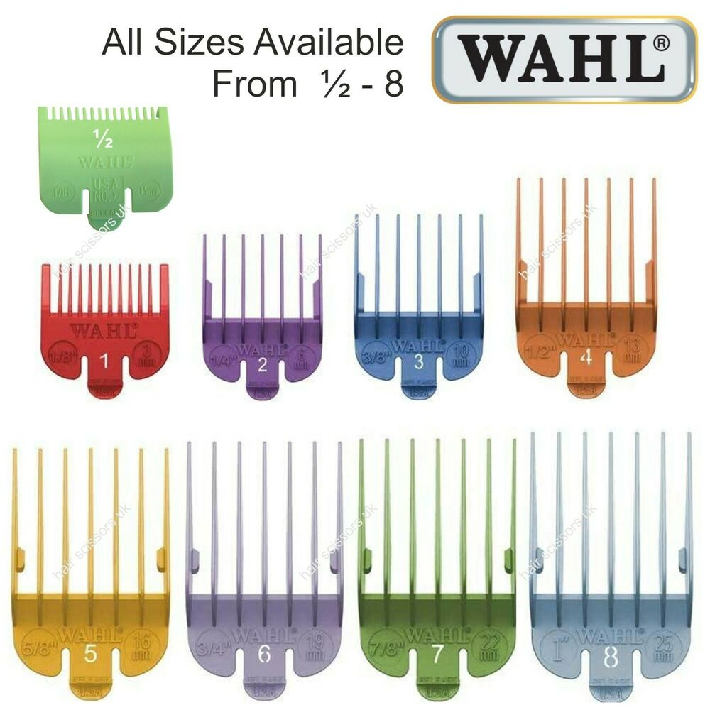 haircut clipper sizes wahl hair clipper comb coloured all sizes available 0 5 189 1841 | s l1000