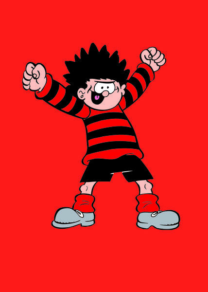 Beano Greeting Card Dennis The Menace New In Cello Ebay