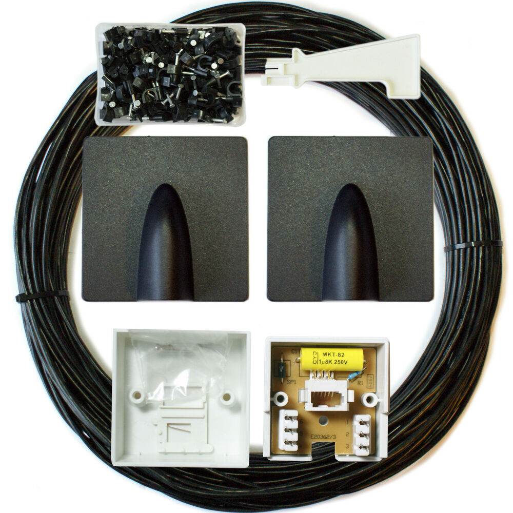 25m bt extension outdoor external cable lead kit. Black Bedroom Furniture Sets. Home Design Ideas