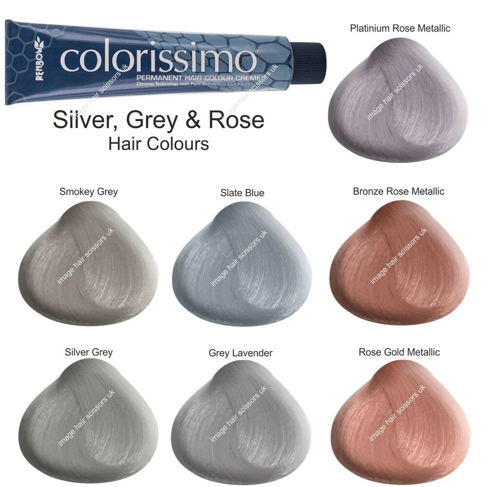 Silver Grey Rose Bronze Hair Colours Tint Dyes All Colours