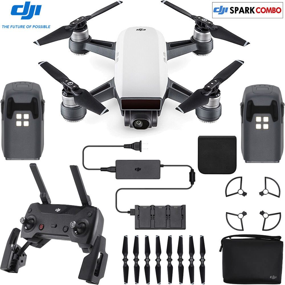 dji spark fly more drone combo alpine white cp ebay. Black Bedroom Furniture Sets. Home Design Ideas