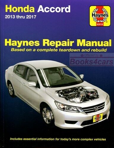 accord shop manual service repair honda haynes chilton book ebay rh ebay com haynes manual honda fit haynes manual honda jazz