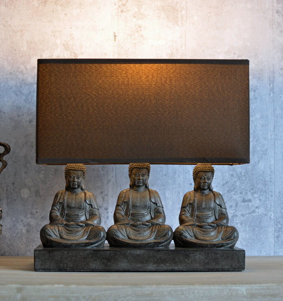 asia tischlampe buddha lampe figuren yoga leuchte feng shui tischleuchte ebay. Black Bedroom Furniture Sets. Home Design Ideas
