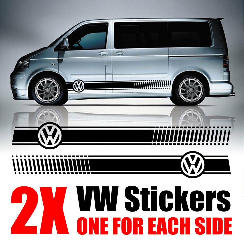vw transporter graphics stripes camper van caravelle. Black Bedroom Furniture Sets. Home Design Ideas