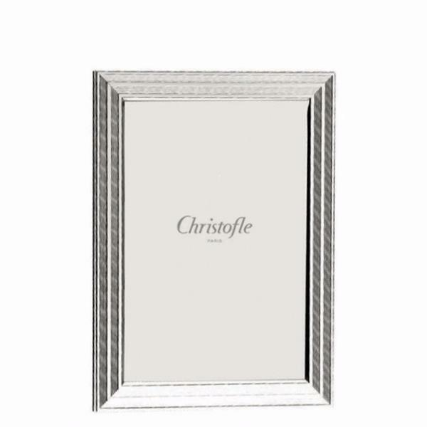 Christofle Filets 5 X 7 Picture Frame 4256640 Bnib Clear Silver