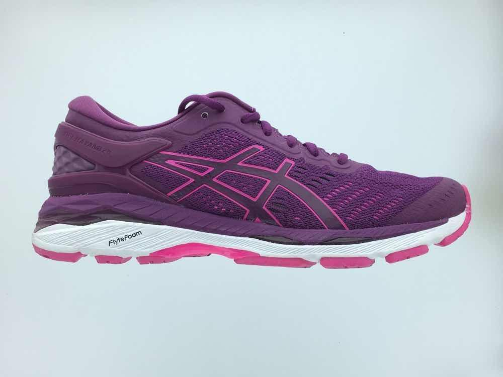 fa36cffcf52c Details about Women s Asics GEL-Kayano 24 Running Athletic Shoes Prune Pink  Glow White