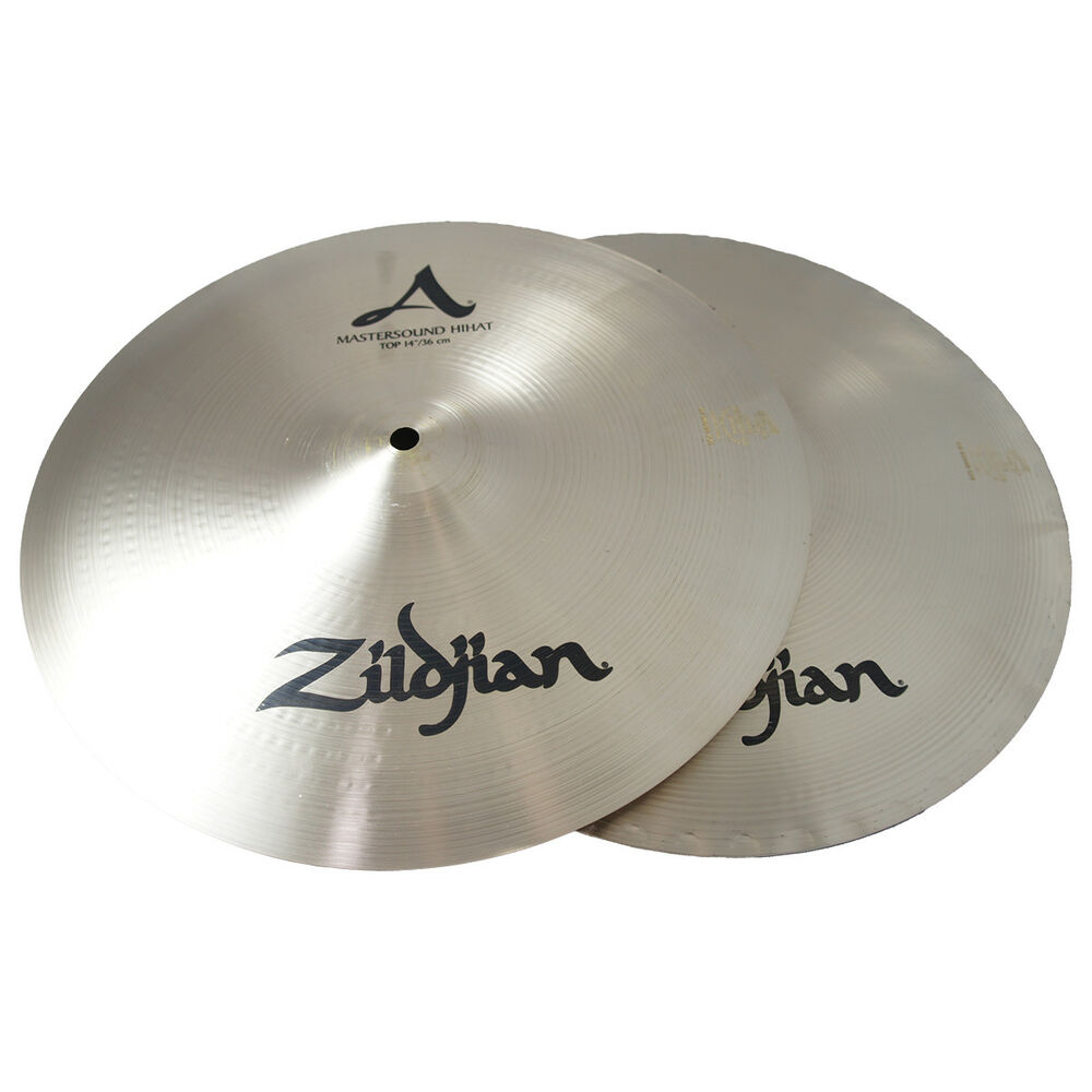 zildjian a0123 14 a mastersound hi hats pair hihat drumset cymbals used 642388122082 ebay. Black Bedroom Furniture Sets. Home Design Ideas