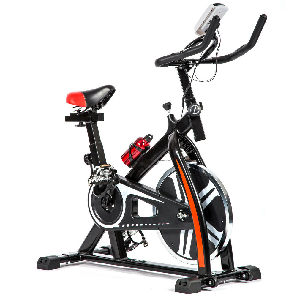 Black Bicycle Cycling Fitness Exercise Stationary Bike
