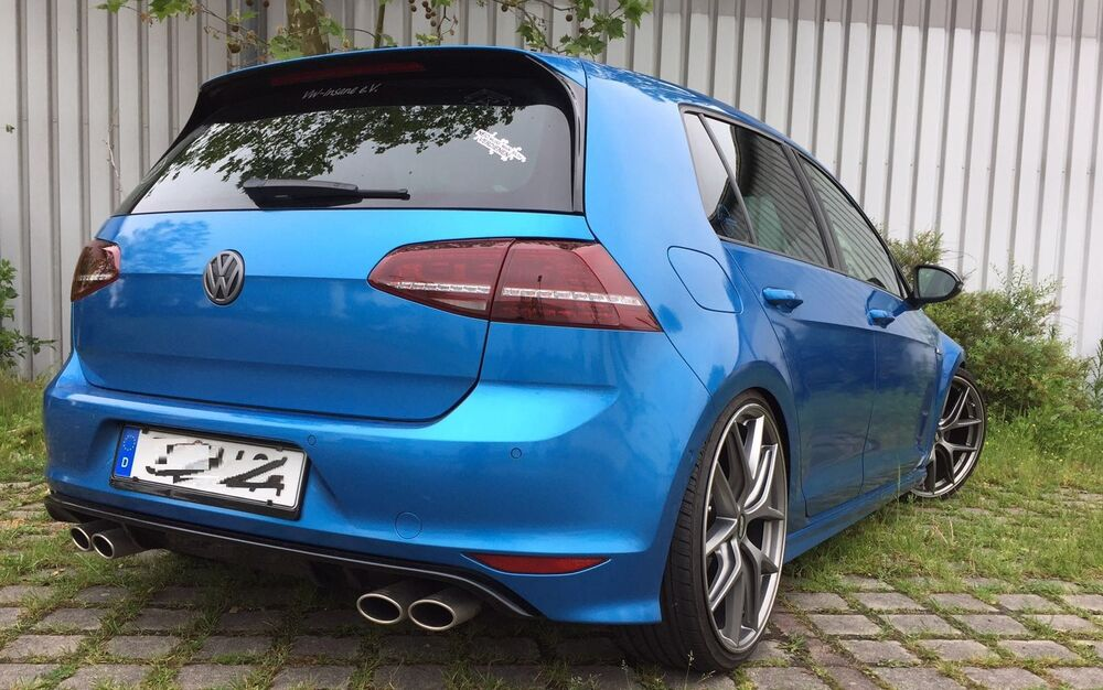 golf 7 vii sport auspuff heckdiffusor heckansatz hecksch rze r r line vw gti gtd ebay. Black Bedroom Furniture Sets. Home Design Ideas