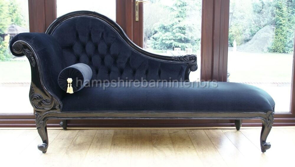 CHELSEA FRENCH STLE ORNATE CHAISE LONGUE SINGLE END LOUNGE