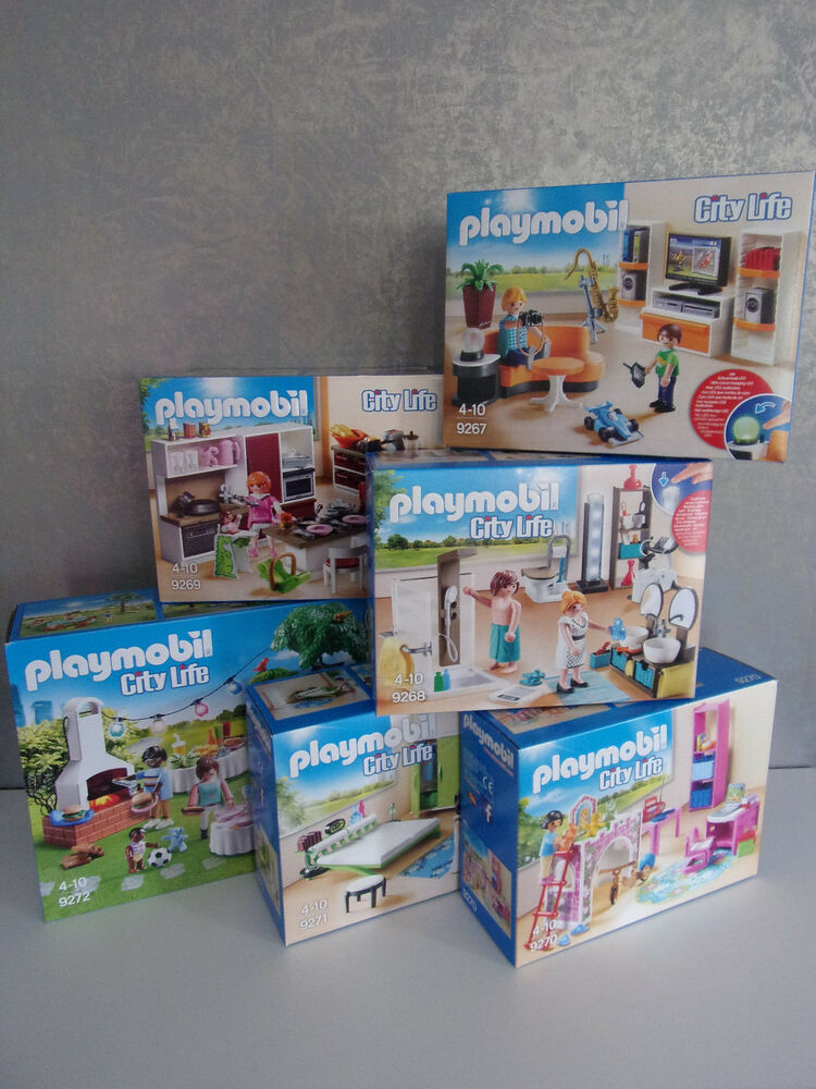 playmobil city life 9267 9268 9269 9270 9271 9272 for. Black Bedroom Furniture Sets. Home Design Ideas