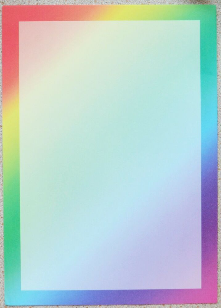 25 x a4 sheets of rainbow border paper 80gsm new ebay