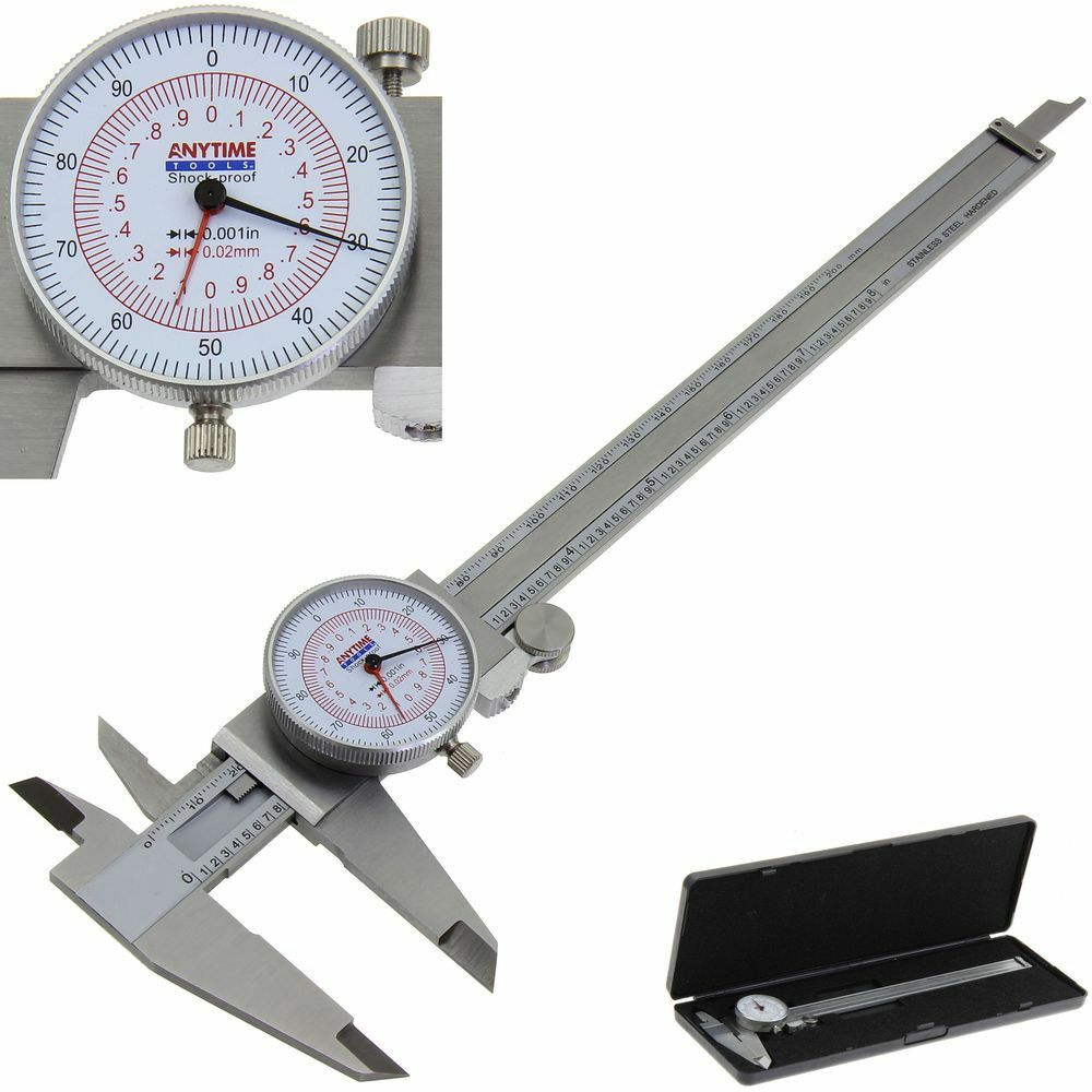 Dial Caliper 8 U0026quot     200mm Dual Reading Scale Metric Sae