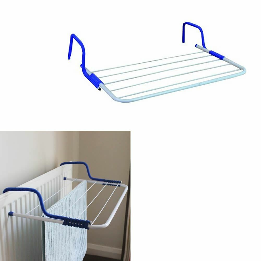 radiator clothes airer laundry hanging folding portable dryer indoor drying rack ebay. Black Bedroom Furniture Sets. Home Design Ideas