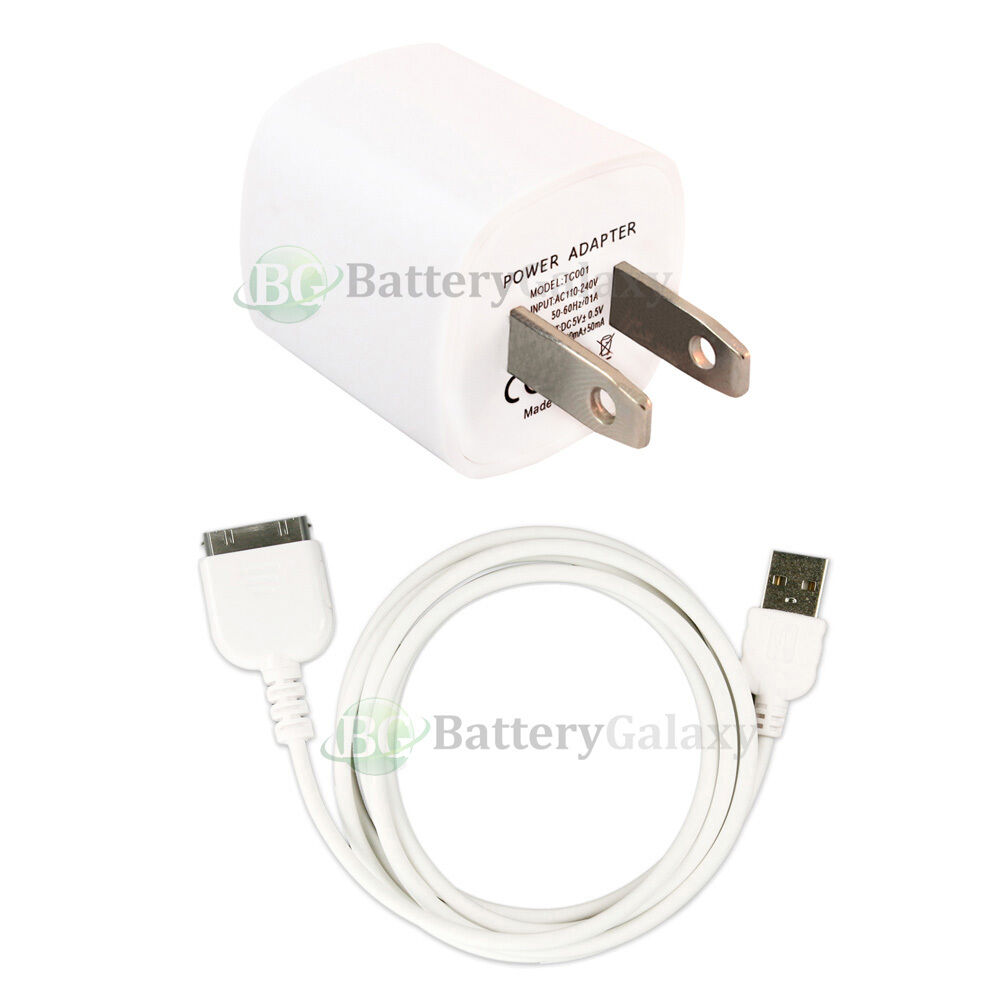 Car Audio Data For Apple Ipod Itouch Iphone 3 3gs 4 4s Usb: HOT! USB Home Wall Charger+Cable Data Cord For Apple IPod