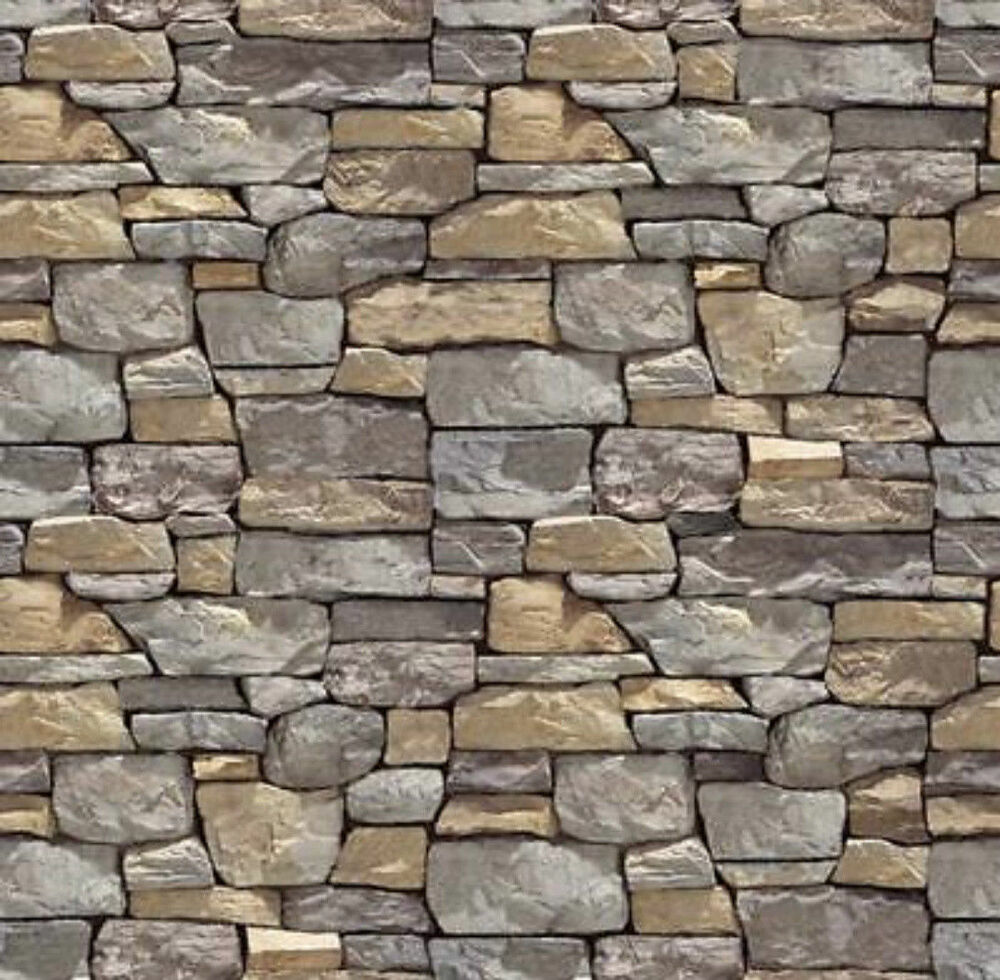 5 Sheets Embossed Bumpy Brick Stone Wall 21x29cm Scale 1