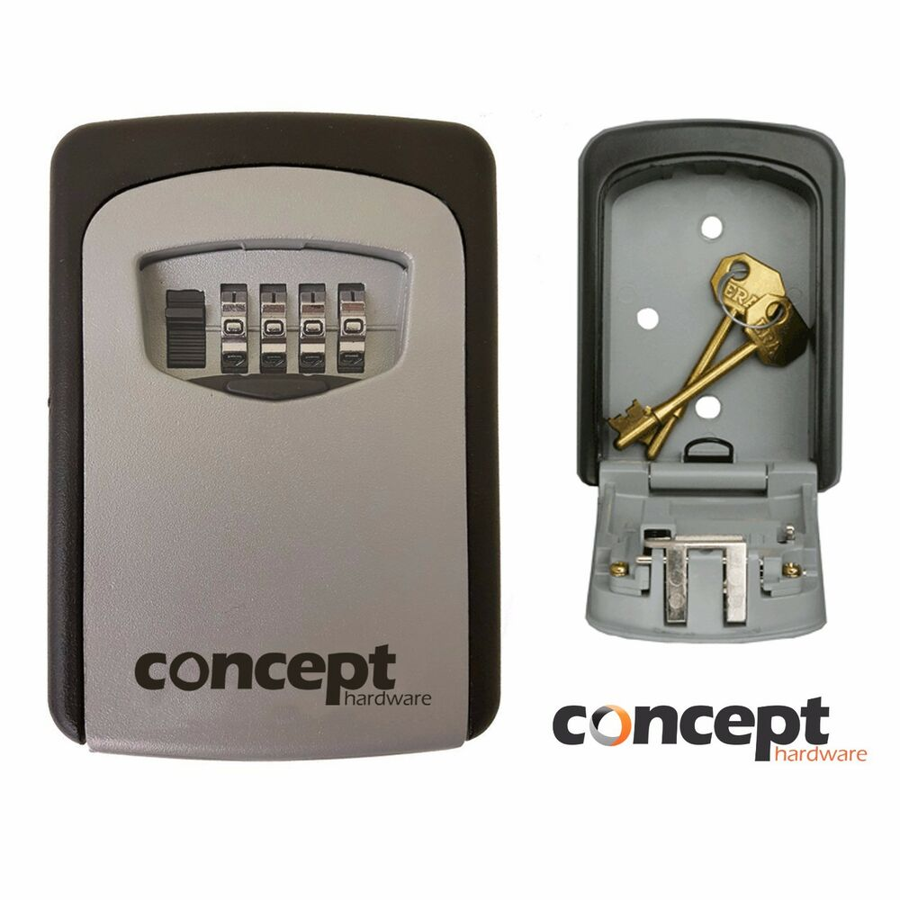 Outdoor Wall Mounted Safe Key Box With 4 Digit Lock Waterproof Cover Home Car Uk Ebay