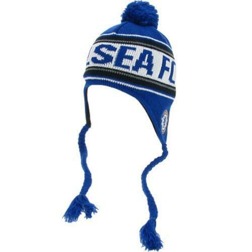 67250dab07f7b Details about Chelsea FC - Inca Style Knitted Toggle Hat - WEB SPECIAL