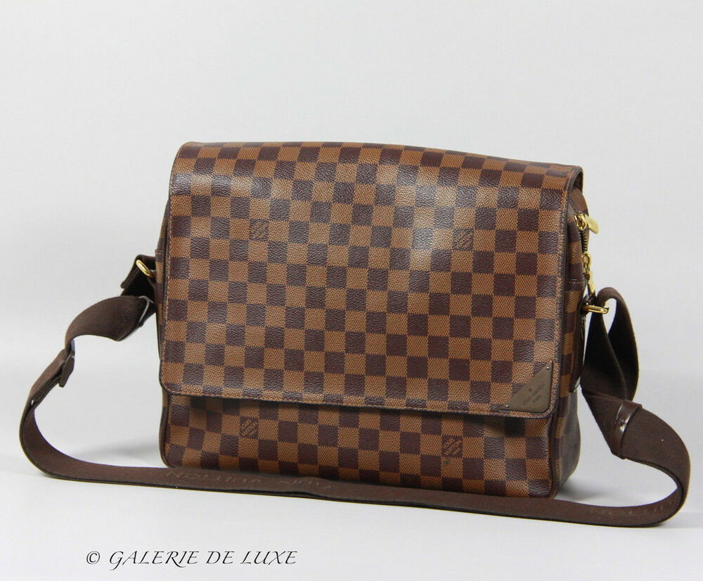 louis vuitton shelton mm damier messenger bag herren tasche mit rechnung ebay. Black Bedroom Furniture Sets. Home Design Ideas