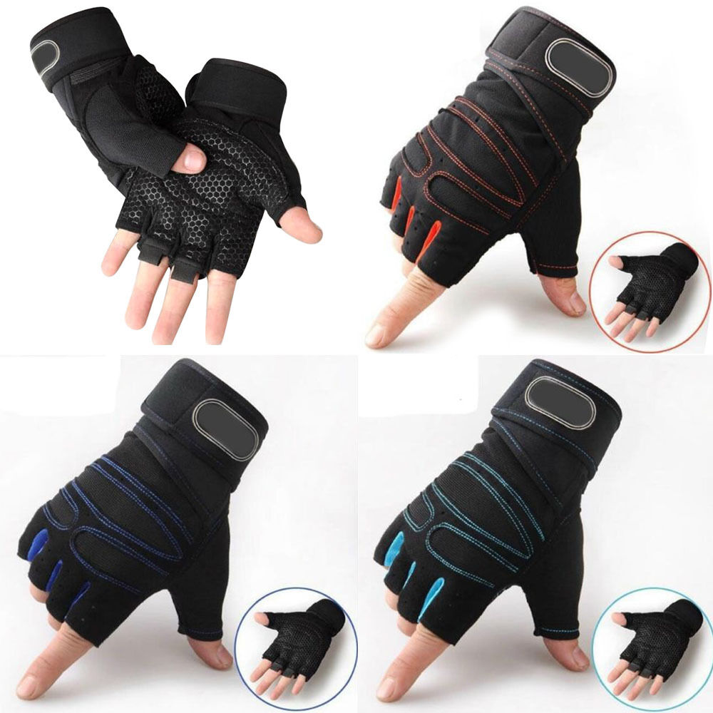 Weight Lifting Gym Gloves Workout Wrist Wrap Sports: Men Gloves Training Fitness Cycling Wrist Wrap Exercise
