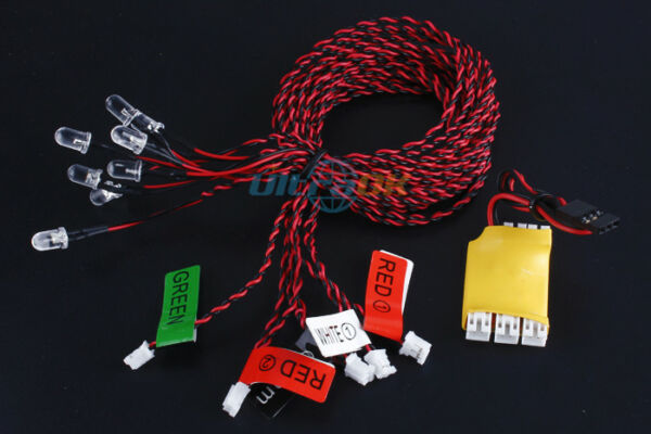 8-LED Flashing Simulation Light bulb Smart System for RC Helicopter Plane Glider