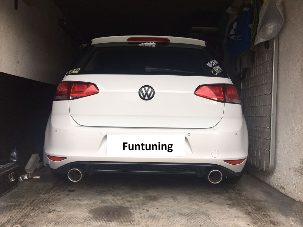 golf 7 gtd gti sportauspuff auspuff vw vii im gti look f r. Black Bedroom Furniture Sets. Home Design Ideas