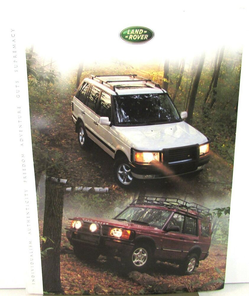 2001 Land Rover Press Kit Range Rover 4.6 SE HSE Discovery