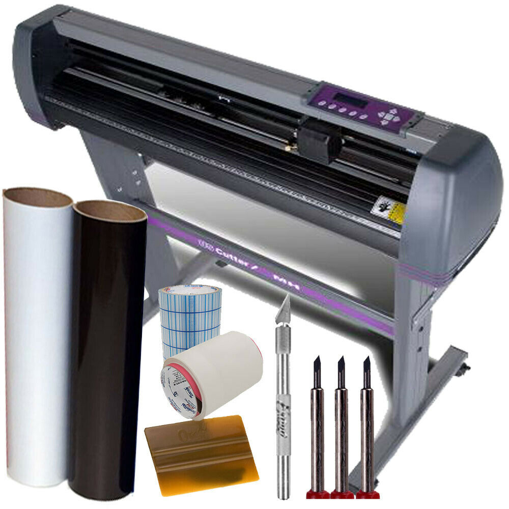 Details about uscutter 28 vinyl cutter plotter kit design cut software make decals signs