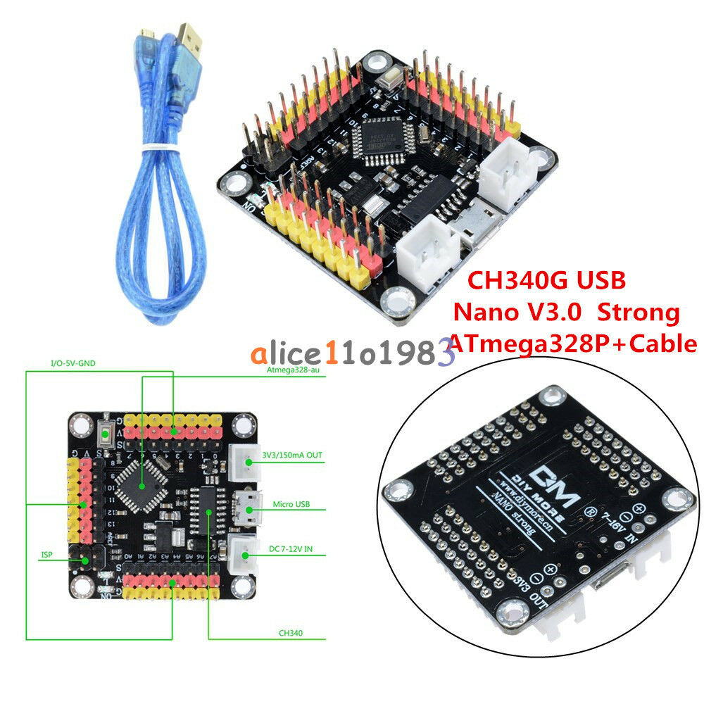 Today We Try To Use Ch340g Arduino Nano 30 On Mac Osx In The 10pcs Ams1117 33v 1a Voltage Regulator Electrodragon V30 Dm Strong 16mhz Atmega328p Micro Controller Board For Ebay