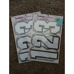 Kyпить New Transfermations Iron-On Numbers White 2 PACK LOT 4 Sheets per pack на еВаy.соm