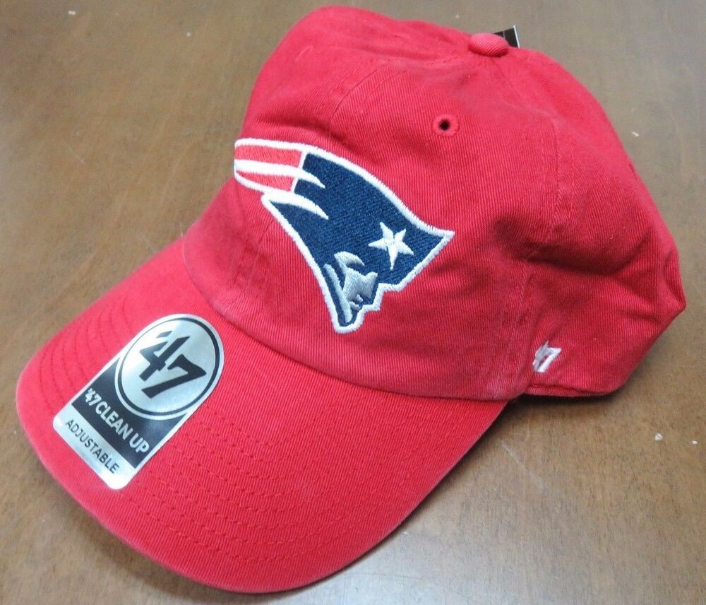 Details about New England Patriots 47 Brand Clean Up Red Hat Adjustable Cap cc4bc1ee3