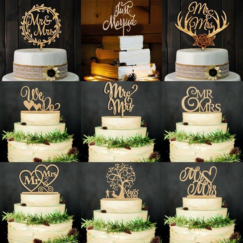 wooden wedding cake toppers vintage wooden mr amp mrs and groom wood cake topper 1488