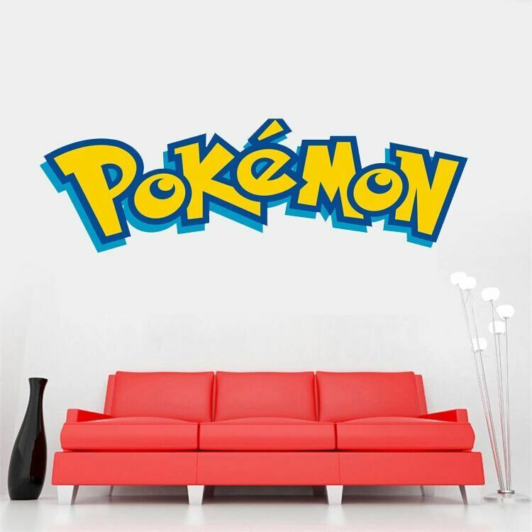 pokemon quote wall sticker diy living room decor mural removable pvc