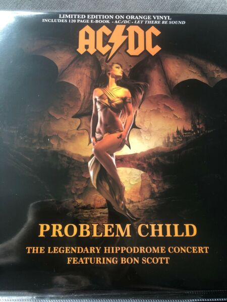 AC/DC 'PROBLEM CHILD' LIVE 1977 HIPPODROME - NEW LTD EDT FLAMING VINYL LP