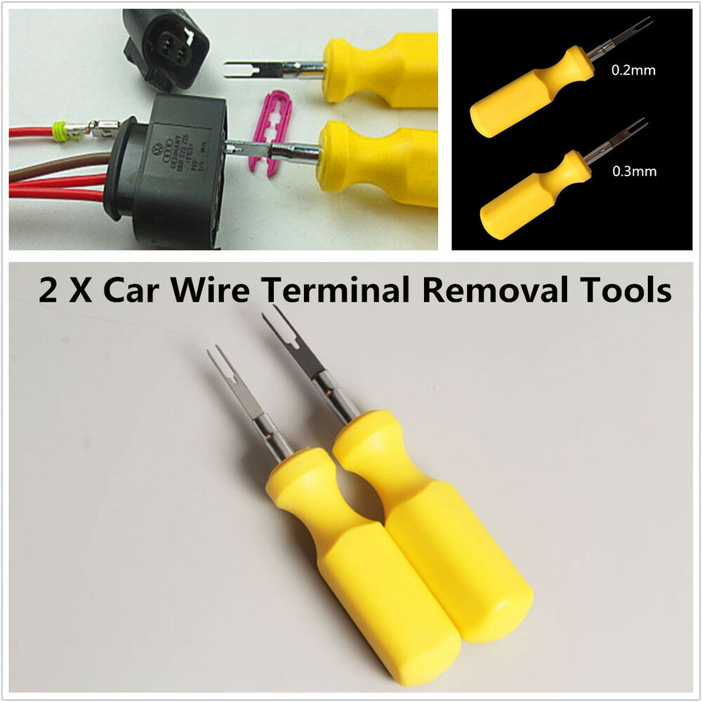 2xCar Terminal Removal Tool Kit Connector Pin Release Puller For ...